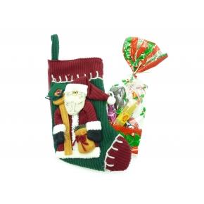 Chaussette Père Noël garnie
