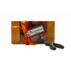 Ecorces d'orange Noir Ballotin 500g