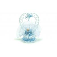 Berceau bleu en résine avec bébé garçon