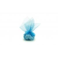 Dragées Amandes royales bleues Tulle 50g
