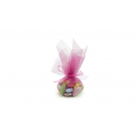 Dragées Amandes royales assorties Tulle rose 50g