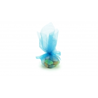 Dragées Amandes royales assorties Tulle bleu 50g