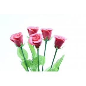 Bouquet de 5 Roses Rouges